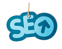 Search engine optimisation logo as a hang tag
