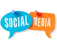 Social Media logo as price signs