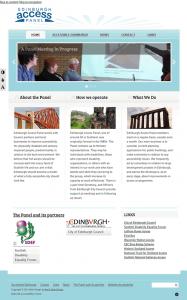 Screencapture of Edinburgh Access Panel website