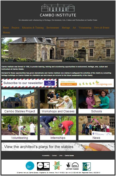 Cambo Institute website