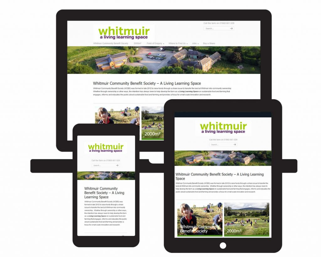 Screen visual of Whitmuir Community Benefit Society