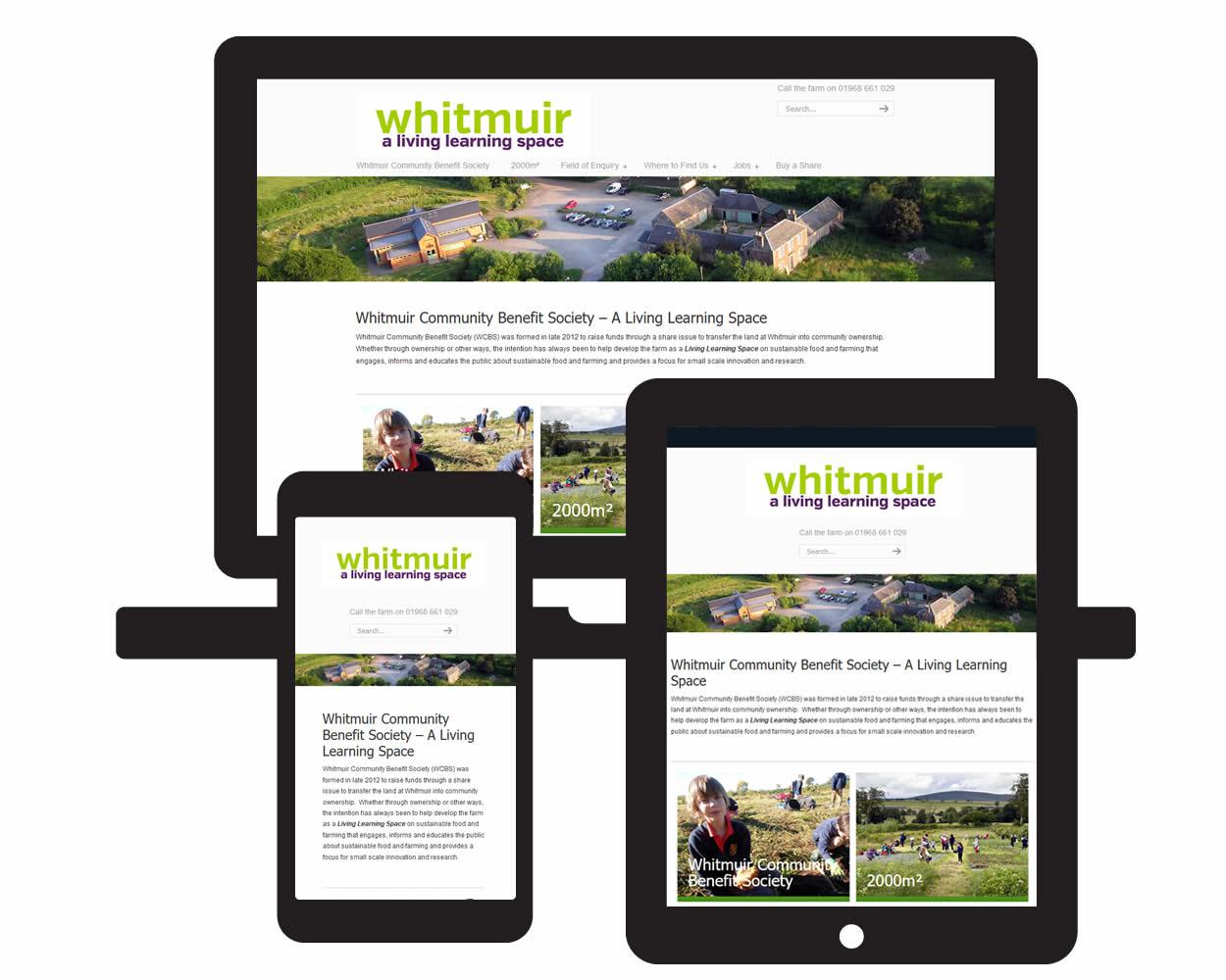 Screen visual of Whitmuir Community Farm